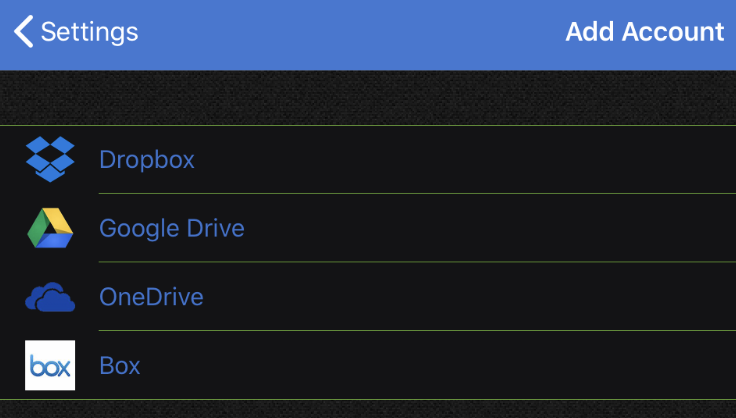 クラウド上のファイルも選択・送信可能